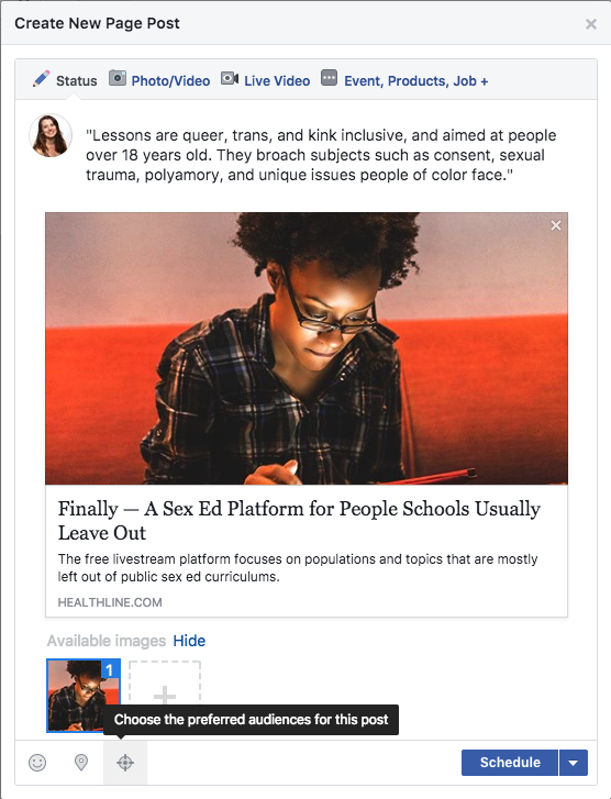 How to target audiences organically on Facebook